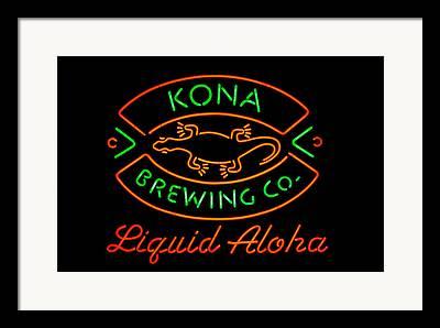 Kona Brewing Framed Prints