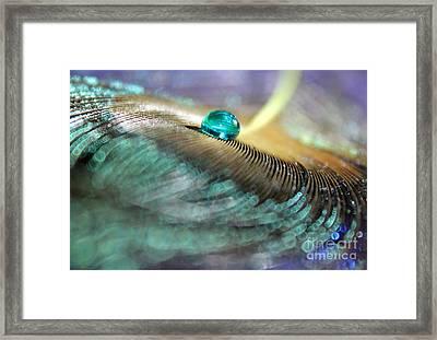 Liquid Aqua Framed Print by Krissy Katsimbras