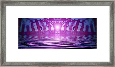 Liquid Cage Framed Print