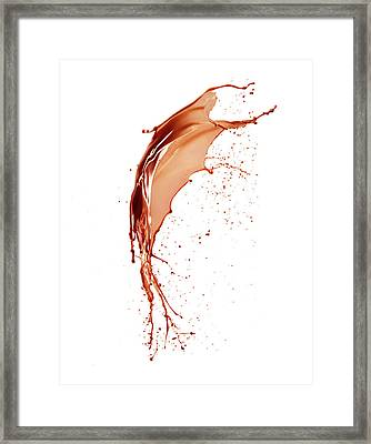 Liquid Chocolate Framed Print by Ray Massey