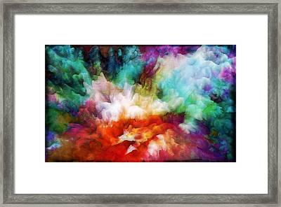 Liquid Colors - Original Framed Print by Lilia D