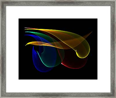 Liquid Colors Framed Print by Pete Trenholm