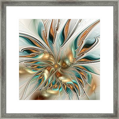 Liquid Flame Framed Print by Anastasiya Malakhova