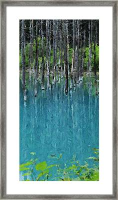 Liquid Forest Framed Print