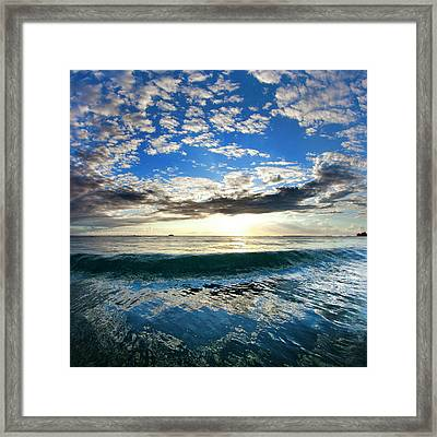 Blue Lava Framed Print by Sean Davey
