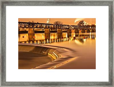 Liquid Gold - The 21st Street Bridge  Framed Print