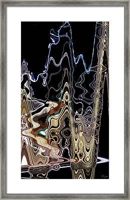Framed Print featuring the photograph Liquid Metal II by Pennie  McCracken
