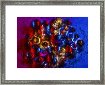 Liquid Nuts And Bolts Framed Print