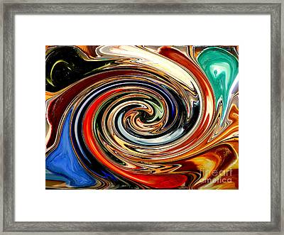 Liquid Paint Abstract Framed Print by Carol Groenen