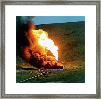 Liquid Petroleum Gas Venting Framed Print