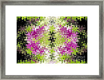 Liquid Purple Kiwi Framed Print