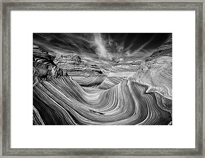 Liquid Rock - The Wave Framed Print