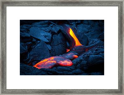 Liquid Rock Framed Print