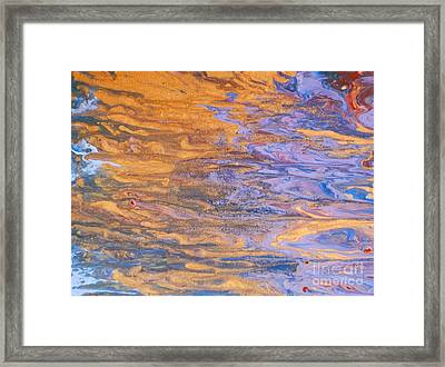 Liquid Summer Framed Print