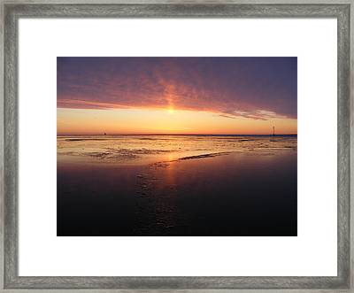 Liquid Sunrise Framed Print
