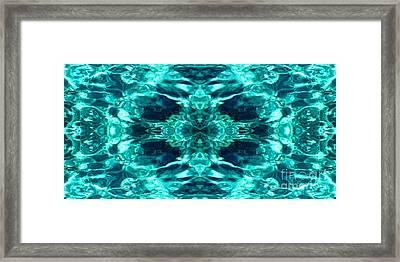 Liquify Aqua Framed Print