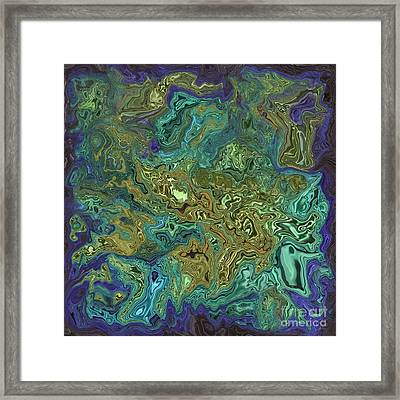 Liquify Dark Blue Framed Print
