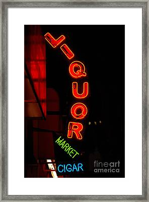 Liquor Market Framed Print by Lee Roth
