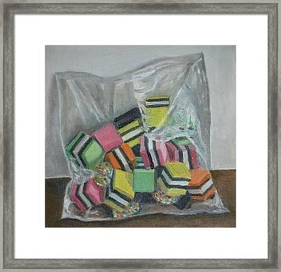 Liquorice Allsorts, 2004, Oil On Canvas Framed Print