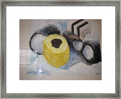 Liquorice Allsorts.  The Fluffy One Framed Print by Wendy Head