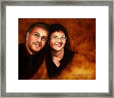 Lisa And Me Framed Print
