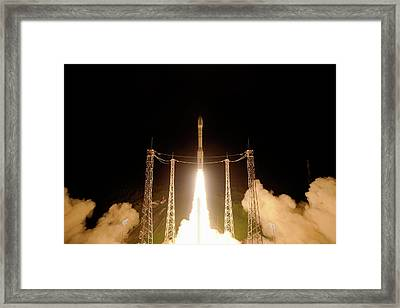 Lisa Pathfinder Space Probe Launch Framed Print by Esa-stephane Corvaja, 2015