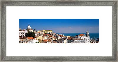 Lisbon, Cityscape, Skyline, Portugal Framed Print by Panoramic Images