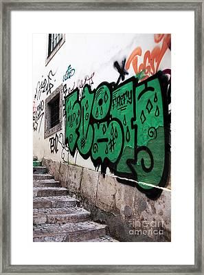 Lisbon Graffiti II Framed Print by John Rizzuto
