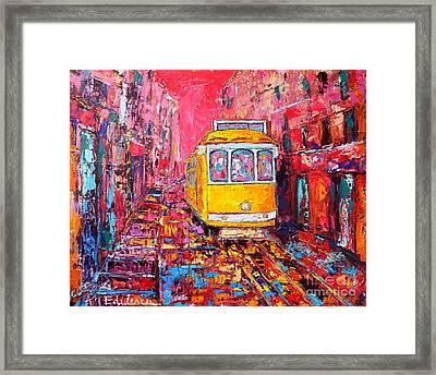 Lisbon Impression Framed Print by Ana Maria Edulescu