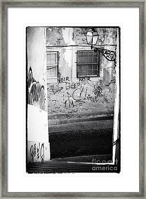 Lisbon Noir Framed Print by John Rizzuto