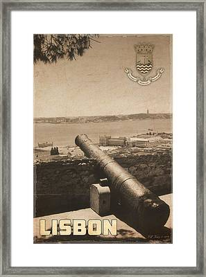 Lisbon Poster Framed Print by Bill Jonas
