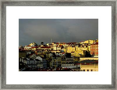 Lisbon Skyline Framed Print