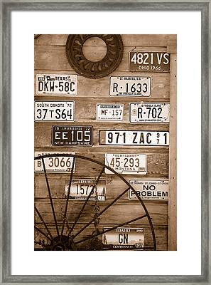 Liscensed Shed Wall Framed Print