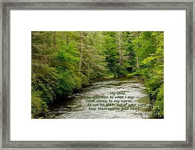 Listen Closely Framed Print by Sandra Clark