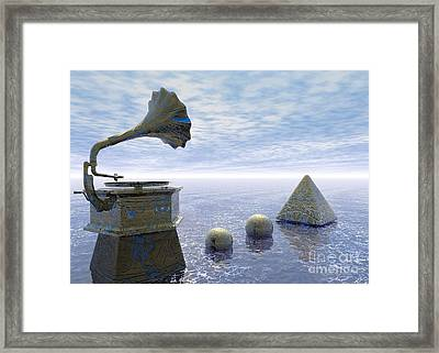 Listen - Surrealism Framed Print by Sipo Liimatainen