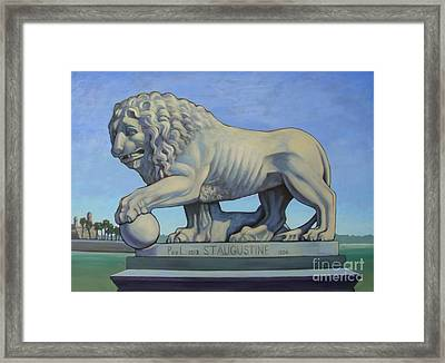 Listen To The Lion I Framed Print