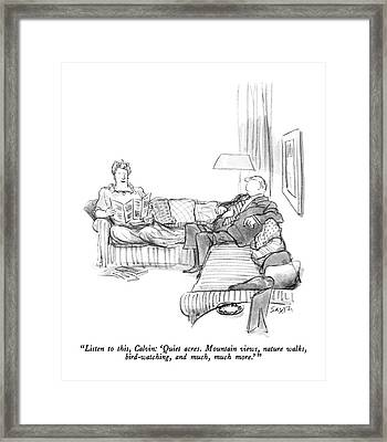 Listen To This Framed Print