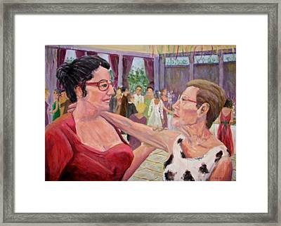 Listen To Your Aunt Framed Print by Bonnie Wilber