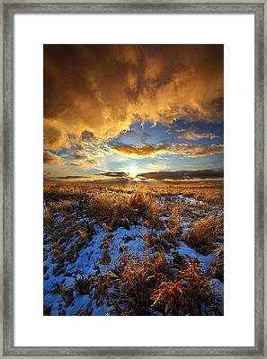 Listen To Your Heart Framed Print by Phil Koch