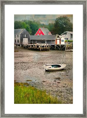 Lit'a Bit Of Red Framed Print by Diana Angstadt