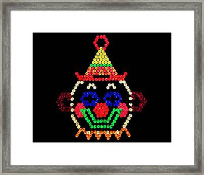 Lite Brite - The Classic Clown Framed Print by Benjamin Yeager