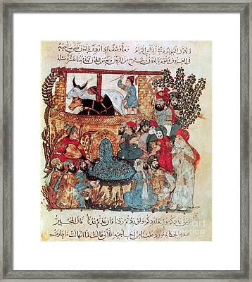Literary Gathering Baghdad 12th Framed Print by Photo Researchers