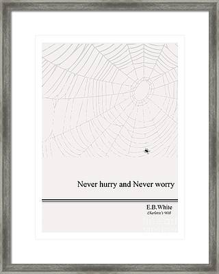 Literary Quote- E.b. White - Cw Framed Print