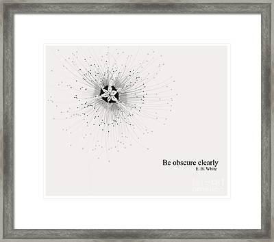 Literary Quote- E.b.white Framed Print by Trilby Cole