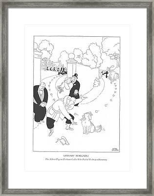 Literary Renegades The Albert Payson Terhune Framed Print by Gluyas Williams