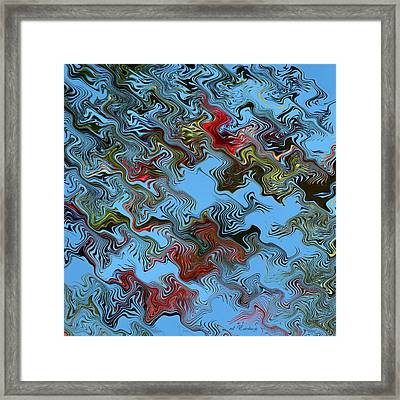 Framed Print featuring the digital art Literati by rd Erickson