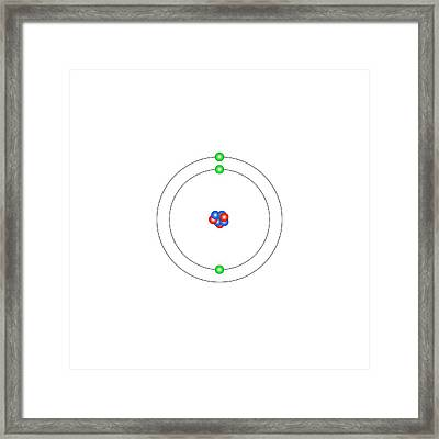 Lithium Framed Print by Science Photo Library