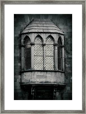 Lattice Castle Window Framed Print