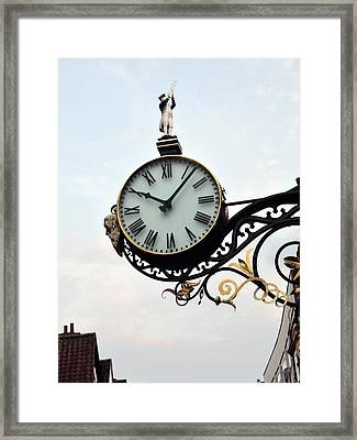 Little Admiral Clock York England Framed Print