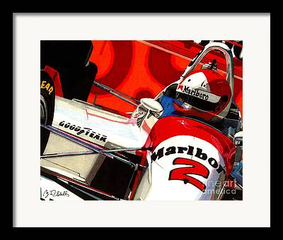 Indy Car Drawings Framed Prints